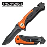 Tac Force TF-727EM Tactical Assisted Opening Folding Knife 6-Inch Closed, Outdoor Stuffs