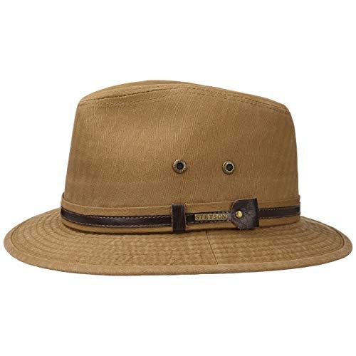 Stetson Classic Cotton Traveller Hat Men Light Brown XL (7 1/2-7 5/8)