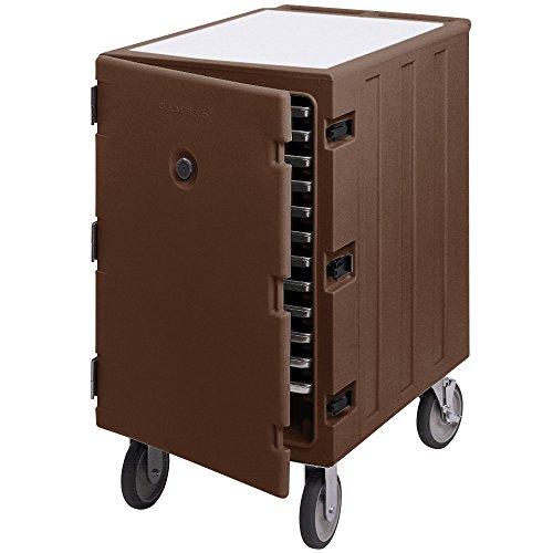Cambro Camcart 1826LTC131 Dark Brown Mobile Cart for 18