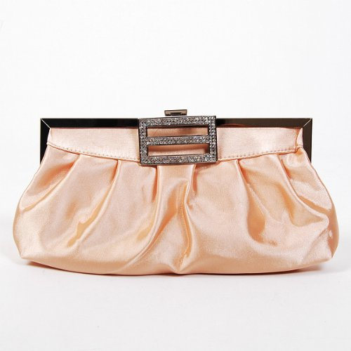 Classic Shoulder Clutch Bag Handbag Tote Apricot by Shanghai Chang