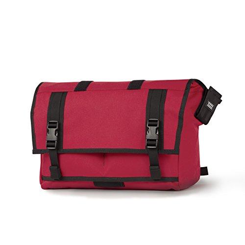 Mission Workshop Monty 21L (1,300 cu.in.) Waterproof Rolltop Messenger Bag, Red