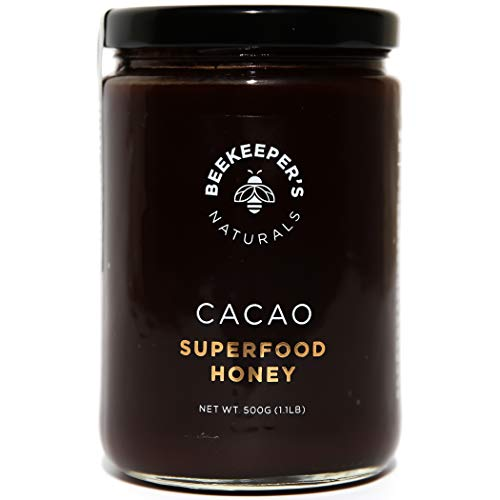 Superfood Cacao Honey by Beekeepers Naturals   500g of 100% Raw, Sustainably Sourced Enzymatic Honey   Raw Ecuadorian Cacao   Gluten Free & Nut Free