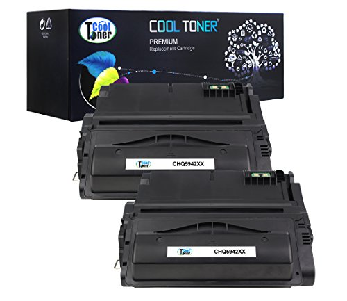 Cool Toner 2 Pack 27,000 Pages Compatible Toner Cartridge Replacement For HP 42X Q5942X Q1338A Q5942 Used For HP LaserJet 4200 4240 4250 4250TN 4250N 4250DTN 4300 4350 4345MFP 4350N 4350TN 4350DTN