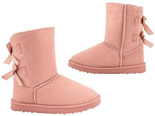 Elara Elara Women's Schlupfstiefel Women's Pink Pink Schleife Elara Schleife Schlupfstiefel Women's YqIFO