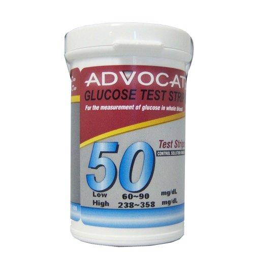Advocate Redi-Code Blood Glucose Test Strips, 50 Count