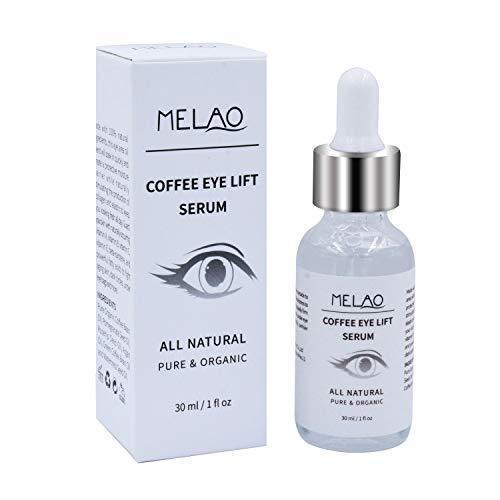 Mererke_Pretty Coffee Eye Lift Serum, Organic, Anti Aging, Natural Reduces Puffiness, Brightens Tired Eyes (30ml/1 Fl.oz)