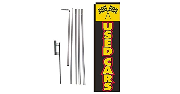 CREDITO FACIL Car Dealer Lot Swooper Flag Tall Vertical Feather Bow Banner Sign