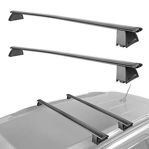MOSTPLUS New Roof Rack Cross Bar Rail for Jeep Grand Cherokee with Side Rails 2011 2012 2013 2014 2015 2016 2017 2018 2019(Not fit SRT & Altitude Models)