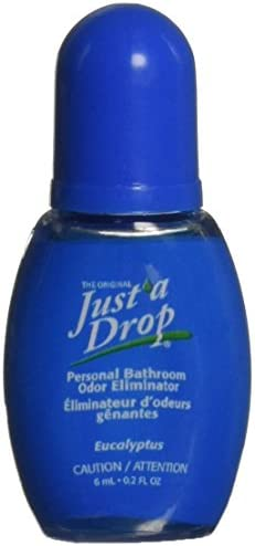 Just A Drop Travel Size Toilet Odor Neutralizer – Eucalyptus 6 Ml Deoderizer