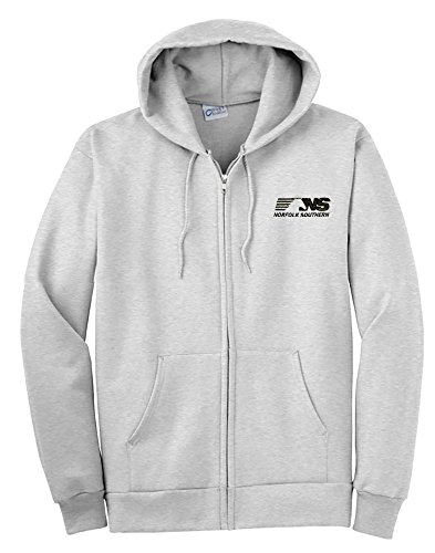 Sweatshirt Zippered Ash - NS Thoroughbred Logo Zippered Hoodie Sweatshirt Ash Adult M [68]