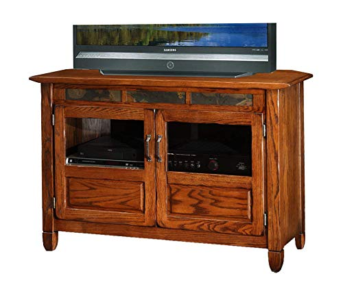 - Deluxe Premium Collection Riley Holliday Rustic Oak 46-Inches TV Console Decor Comfy Living Furniture