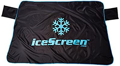 iceScreen Magnetic Ice, Snow & Frost Windshield Cover, Medium, Black