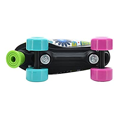 Stemax Quad Roller Skates for Girls and Women-Size 2.5 Kids to 8.5 Women -Outdoor, Indoor and Rink Skating- Classic High Cuff with Adjustable Lace System : Sports & Outdoors