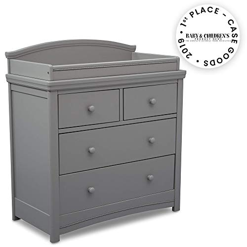 Simmons Kids SlumberTime Emma 4 Drawer Dresser with Changing Top, Grey