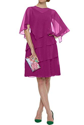 Ivydressing Damen Beliebt Abendkleid Party Fest Cocktailkleider Hochzeitgast Quinceanerakleider Stolar A-Linie Pink ueiXmuPWc