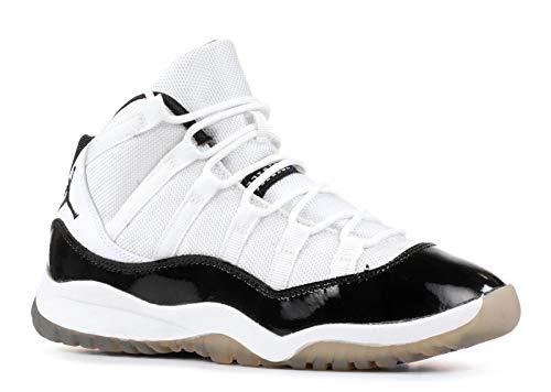 Nike Air Jordan 11 Retro (PS) Concord Little Kids Basketball Shoes [378039-107] White/Black-Dark Concord Boys Shoes 378039-107-1