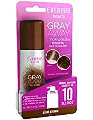 Everpro Gray Away Temporary Root Concealer,  Light Brown, 1.5 Ounce