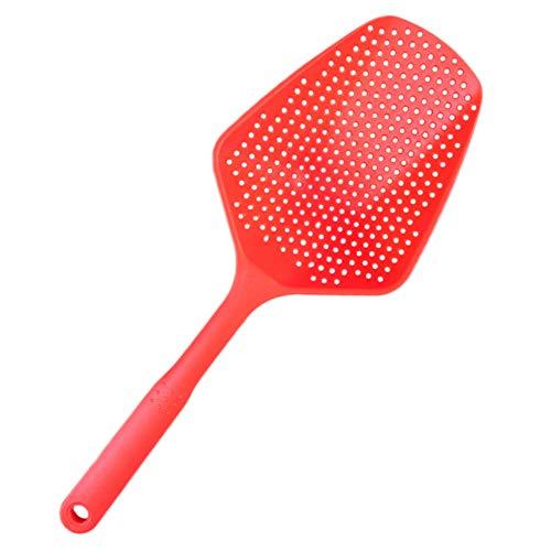 Ocamo Halloween Non-Stick Scoop Colander Ice Shovel Kitchen Accessories Pasta Heat Resistant Strainer red