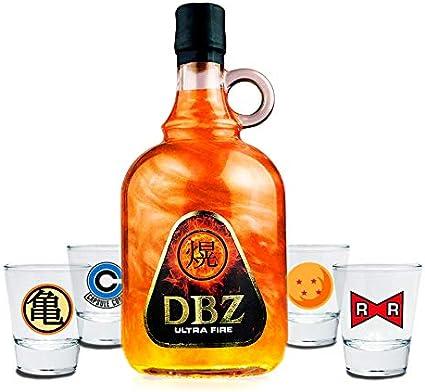 Pack licor y chupitos Dragon Ball: Amazon.es: Alimentación y bebidas