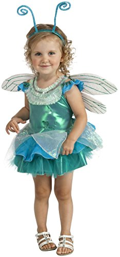 Dragonfly Costume Make (Rubie's Costume Deluxe Dragonfly Tutu Costume, Aqua, Toddler)