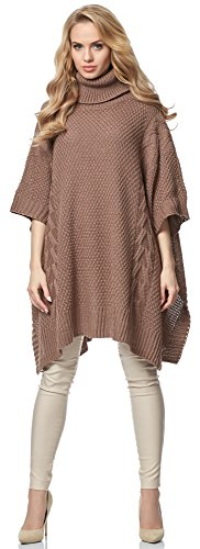 Style pour Poncho Femme Cacao MSSE0033 Merry gwx4TEdqw
