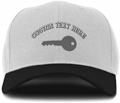 4ee9f7a0 Custom Bi Color Baseball Cap Silver Key Embroidery Dad Hats for Men & Women