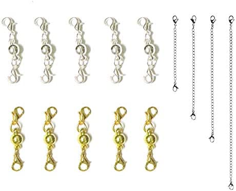 10 Pcs Two Parts Magnetic Lock Lobster Clasp for Jewelry Necklace Bracelet