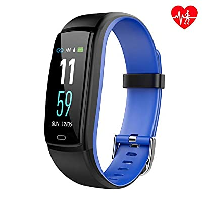 OOLIFENG Fitness Tracker Watch IP67 Waterproof Activity Wristband with Heart Rate Monitors Calorie Counter for Kids Women and Men Estimated Price £49.93 -