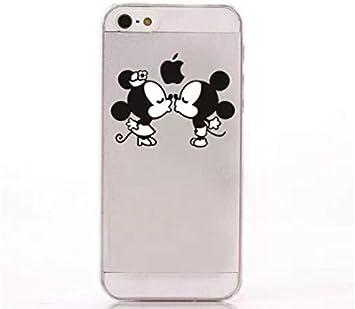 coque rigide transparente pour iphone 5 / 5s - Disney - kiss mickey minnie