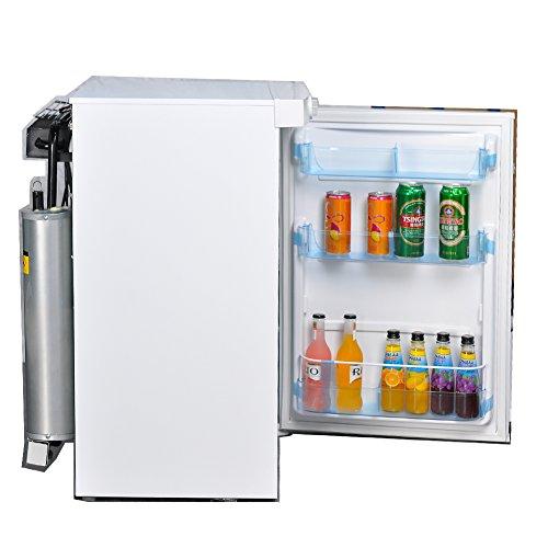 SMETA Compact Absorption Refrigerator 12V/110V/Propane Mini Freezer,3.3 cu ft