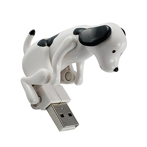 USB Humping Spot - Mini Cute Funny USB Dog Toy Gift Pet Kit for Home Office Computer - White/Black