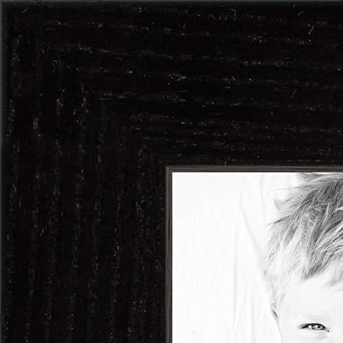 ArtToFrames 14x36 inch Black on Red Oak Wood Picture Frame, 2WOM0066-1343-YBLK-14x36