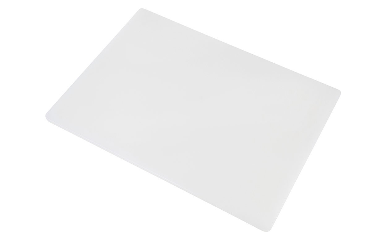 Professional Plastic Cutting Board, HDPE Poly for Restaurants, Dishwasher Safe and BPA Free (24 x 18 x 1/2, White)