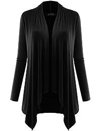 Women's Long Sleeve Draped Open Cardigan