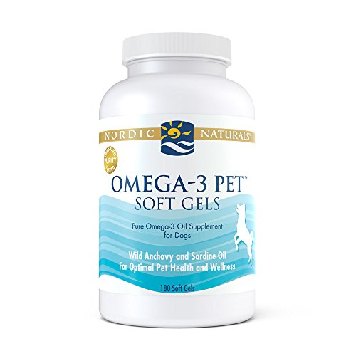 Nordic Naturals - Pet-Omega-3, Promotes Optimal Pet Health and Wellness, 180 Soft Gels