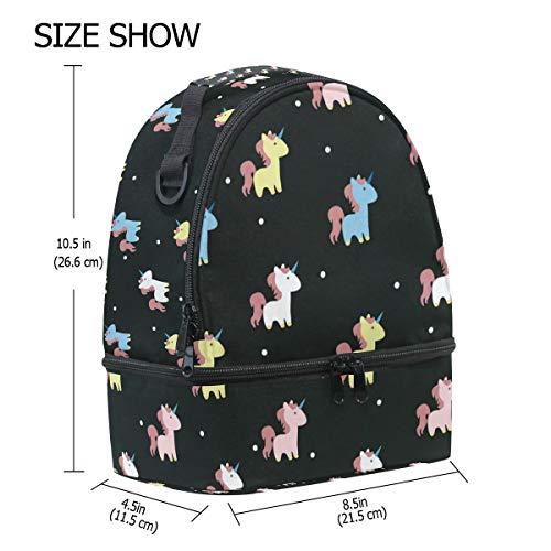 Bag verstelbare School Folembly Unicorn schouderband Lunch Pincnic Insulated qHwvpt