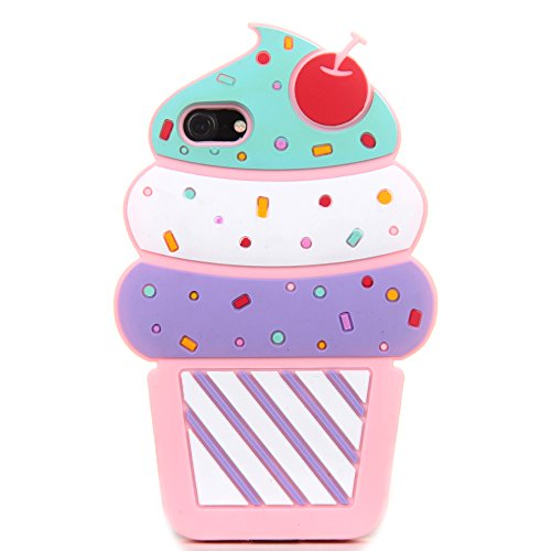 3D Soft Silicone Case Back Covers for Apple iPhone 6 / iPhone 6s Regular Size 4.7