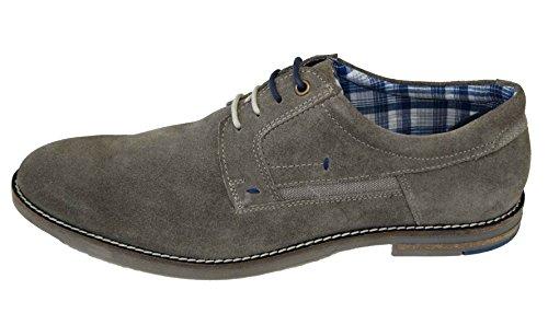 Around the world 360 Zapatos con Cordones Hombre, Color Beige, Talla 43 EU