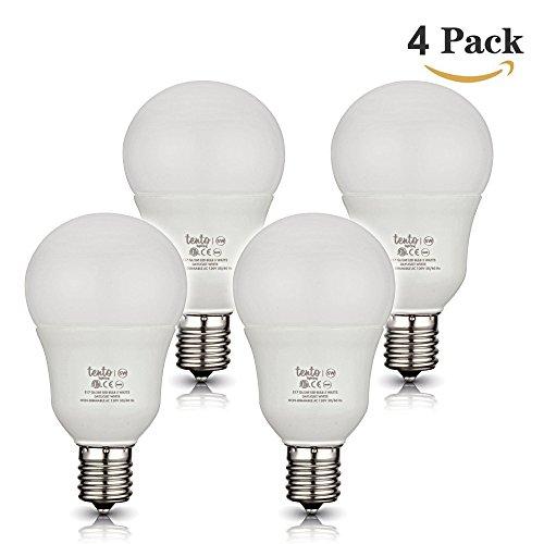 E17 Globe Bulbs Daylight White 5000k - 6000k Pure White 40 watt Equivalent E17 Intermediate Base Light Bulb Pack of 4 Pieces E17 LED Bulbs Daylight ()