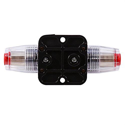12V-24V DC 40A Car Audio Inline Circuit Breaker Reset Fuse Holder 40 amp