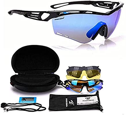 Outdoor Polarized Cycling Glasses Sungasses Bike Bicycle Googles Eyewear Bump