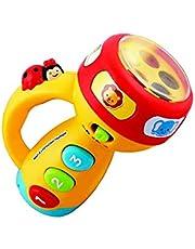 Durshani Linterna antorcha para niños- Girad para Aprender Colores ! Antorcha Multicolor con Botones y Efectos de Sonido by