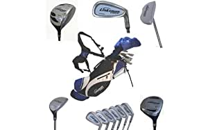 Linksman Golf X7 Mens Left Handed Complete Golf Set with Stand Bag