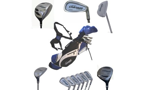 LINKSMAN GOLF X7 Mens +1″ Left Handed Complete Golf Club Set w/ Stand Bag, Outdoor Stuffs