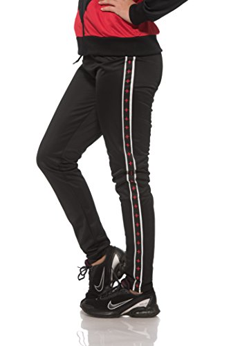 (15478) S2 Sportswear Womens Skinny Track Pants in Red Size: L