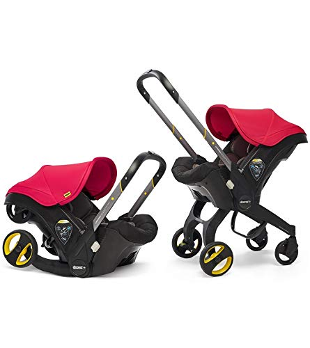 (Doona Infant Car Seat & Latch Base - Flame Red - US Version)
