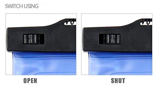 Leisial 3 Stück Wasserdichte Handyhülle Wassersport Driften Strand Handyhülle HD Touch Fenster Universalhülle für Smartphone von 4 bis 6 Zoll Bildschirm,Schwarz