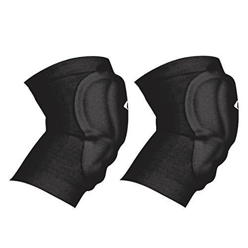 Champro High Compression or LowProfile Knee Pad (Black, Adult) (Champro Volleyball Knee Pads)