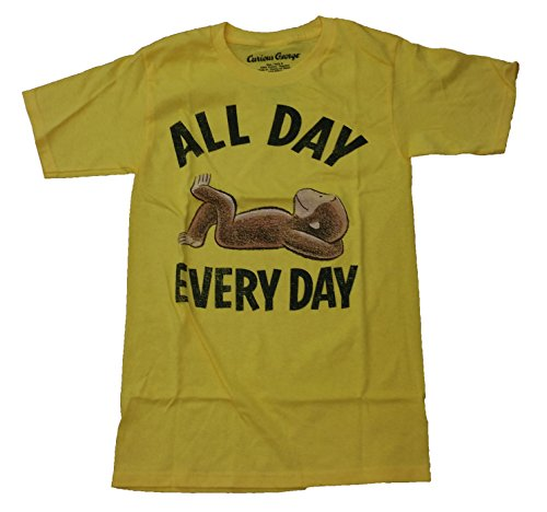 Curious George Mens All Day Every Day Licensed Graphic T-Shirt - XX-Large