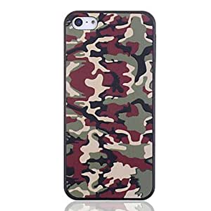 PEACH Camouflage Color Plastic Back Case for iPhone 5/5S